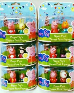 Peppa Pig Figures Rebecca Rabbit Suzie Sheep Danny Dog Zoe Zebra George New
