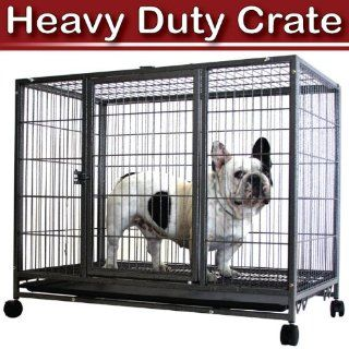 "37"" Heavy Duty Pet Kennel Crate House Dog Cat Rabbit Cages"