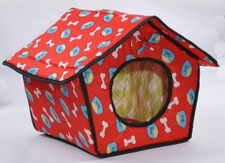 Middle Size Soft Pet Dog Cat Sleeping Bed House Kennel Doggy Warm Cushion Basket