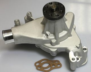 SBC CHEVY LONG REVERSE ROTATION ALUMINUM WATER PUMP HC 8014 S