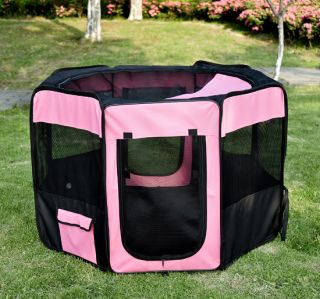"46"" 36""Soft Pet Playpen Exercise Puppy Dog Cat Play Pen Kennel Folding Crate"