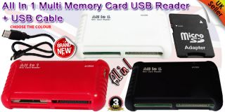 All in One USB 2 0 Multi Memory Card Reader Reads Compact Flash SDHC XC XD Mspro