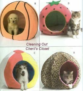 4949 Sewing Pattern Pet Ball Shape Bed Strawberry Beach Basket Dog Cat Adorable