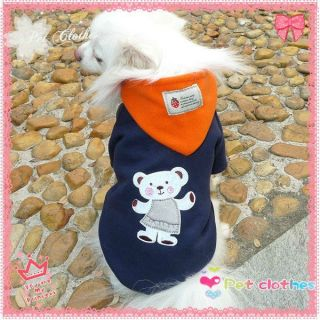 Bubu Bear Fleece Hooded Sweater Dog Clothes Apparel Pet Supplies