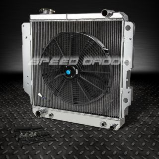 "3 Row Full Aluminum Racing Radiator 16"" Fan 87 06 Jeep Wrangler YJ TJ 2 4L 4 2L"