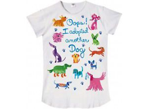 "Relevant Products ""Oops I Adopted Another Dog"" Rescue Dog Cotton Sleepshirt"