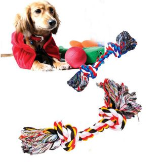 New 10x Wholesale Dog Puppy Pet Cotton Simulated Braided Bone Rope Chew Knot Toy