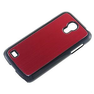 Samsung Galaxy S4 Mini I9190 Aluminum Hybrid Hard Shell Case Black Red