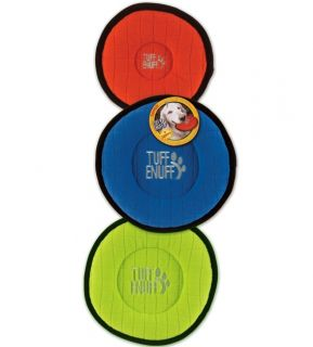 Tuff Enuff Extra Large Dog Disc Plush Durable Soft Dog Frisbee Big Dog Toy