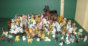 Huge Animal Plastic PVC Figure Toy Rubber Pet Dog Puppy Cat Kitten More Lot D