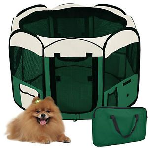 "57"" 2 Door Soft Pet Puppy Dog Playpen Excercise Kennel"