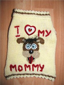 Dog Jumper Hand Knitted Puppy Pet Clothes Clothing Coat Jacket Sweater Unique