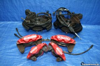 06 07 Impreza WRX Front 4POT Rear 2POT Brake Calipers Spindle Knuckle BBK