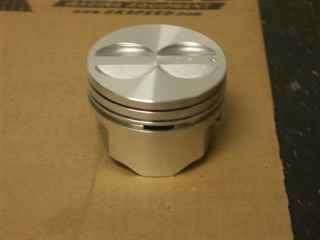 "New SEALED Power Pistons 4 00"" Bore SBC 350 Flat Tops 4 Valve Reliefs Set of 8"