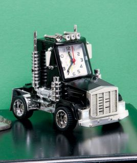 Black Big Rig Monster Truck Battery Operated Alarm Clock Horn Honk Sounds Dad
