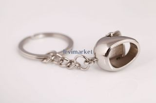 Creative Unisex Silver Modern Keychain Key Ring Car Collect Metal Key Chain Gift