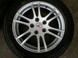05 06 ACURA RSX WHEEL SET OF 4 WITH TIRES 16X6 1 2 ALLOY RIM 12 SPOKE 205 55 16