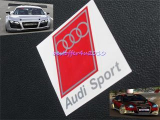 2 Pcs Audi Sport High Quality Decal Sticker RS6 S6 RS4 S4 A4 S3 TT FSI DTM CD105