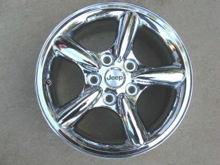 2002 2003 2004 Jeep Grand Cherokee Chrome Aluminum Factory Wheel Rim 17x7 5 Inch
