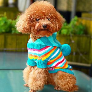 Cute Dog Pet Dog Puppy Sweater Costume Hooded Clothing Costume Sweater Coat M