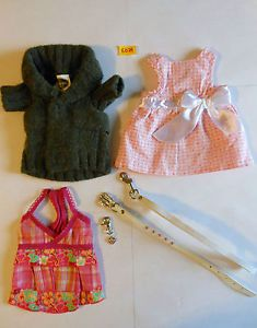 5024 XS Companion Road Lot of 6 Dog Apparel Dresses Sweater Etc