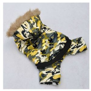 Free SHIP Camo Dog Clothing Wear Sweater Cotton Winter Warm Dog Clothes Coats