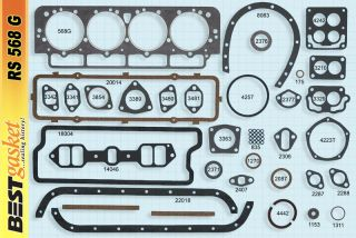 Cadillac 331 Full Gasket Set Best 1949 1955 Head Intake Exhaust Oil Pan Gaskets