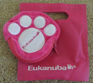 Super Cute Hot Pink Eukanuba Dog Paw Coin Purse