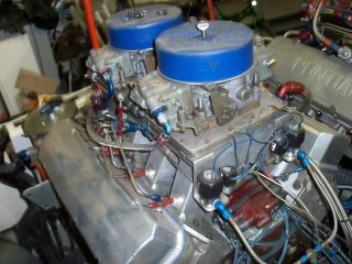 565 CU in BB Chevy Motor Complete Drag Race Engine Fresh Jesel GRP MSD