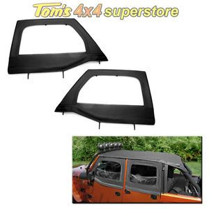 13711 15 Front Soft Upper Doors Half Doors Rugged Ridge Jeep JK Wrangler 2007 12