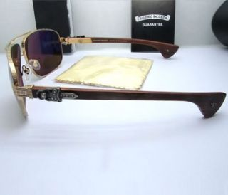 "New Chrome Hearts ""Moorehead"" MBK Web Sunglasses Gold Frame Eye Care"
