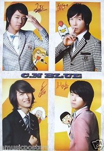 "CN Blue ""Group with Anime Characters"" Poster Korean Boy Band K Pop Music CNBLUE"