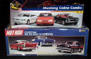 Revell Chevy Custom Hot Rod Ford Mustang Cobra Combo Muscle Car Model Kit Lot