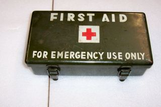 WW2 Jeep First Aid Kit Box