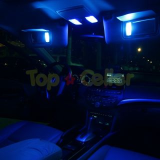 7x Blue LED Lights for Map 168 Dome 212 2 License Plate 168 Interior Package
