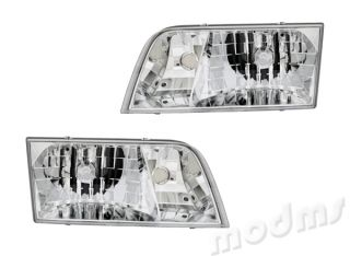 1998 2007 Ford Crown Victoria Sedan Clear Head Light Lamp Assembly 1 Pair
