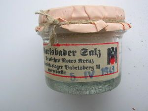 WWII German Army Red Cross Disinfectant Powder Used for Military First Aid Kit