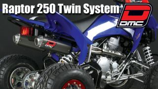 DMC Dual Twin Exhaust System Yamaha Raptor 250 Pipe