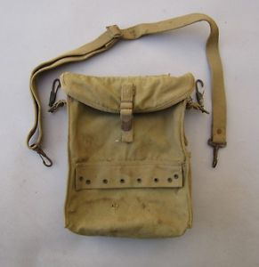 WWII Era US Army Medical Kit Pouch with Strap Medic's Aid Bag Case First Aid