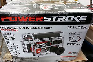 Powerstroke PS907000A 6800 Watt Generator w Honda Engine GX390 Electric Start
