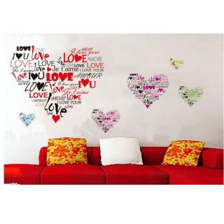 Hot Heart Shape DIY Art Wall Stickers Mural Decal Room Home Decor Removable