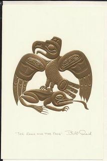 Bill Reid 4 Embossed Haida Art Cards Gold Package