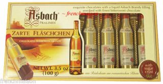 Asbach Pralinen German Mini Bottles Liqueur Brandy Filled Chocolate Gift Box Set