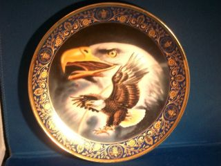 Franklin Mint Royal Doulton Bone China Profile of Freedom Eagle Collector Plate
