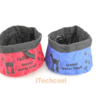 Pet Dog Cat Folding Travel Camping Hiking Outdoors Bowl Water Feeder Food Dish