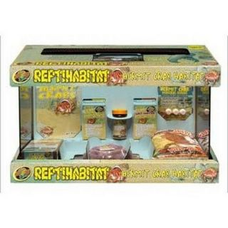 SZMNTH10 Zoo Med Laboratories Reptihabitat 10 Gal Hermit Crab Kit