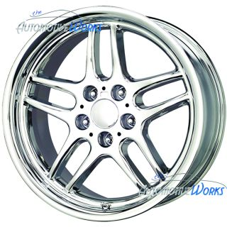 18x8 Replica BMW M Parallel 5x120 13mm Chrome Wheels Rims inch 18""