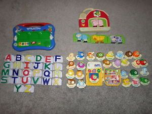 Leap Frog Fridge Magnets Word Whammer ABC Food and Farm Animals