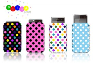 Polka Dot Case for Google Nexus 4 Neoprene Pouch Cover Dots UK Fast SHIP L