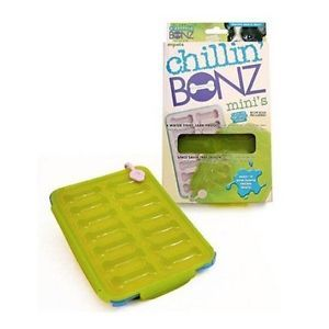 Mini Chillin' Bonz Frozen Small Dog Puppy Treat Maker Bone Shaped Tray Recipes
